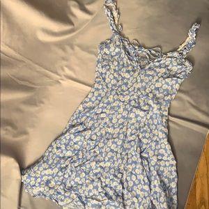 Forever 21 Blue Sunflower Summer Dress 🌻